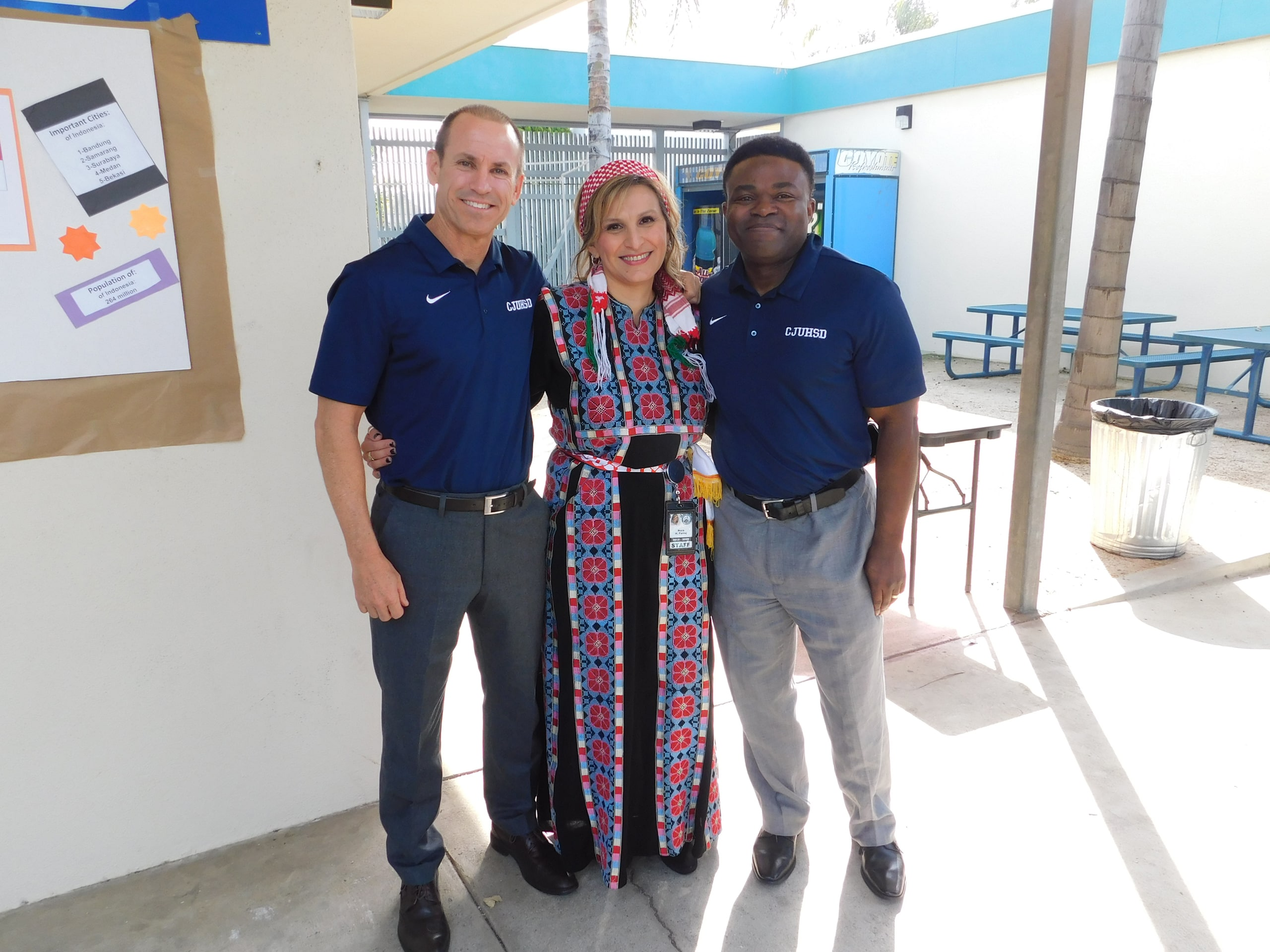 Superintendent Dr. Holton, AP Nora H. Farraj, and Assistant Superintendent Dr. Oduro