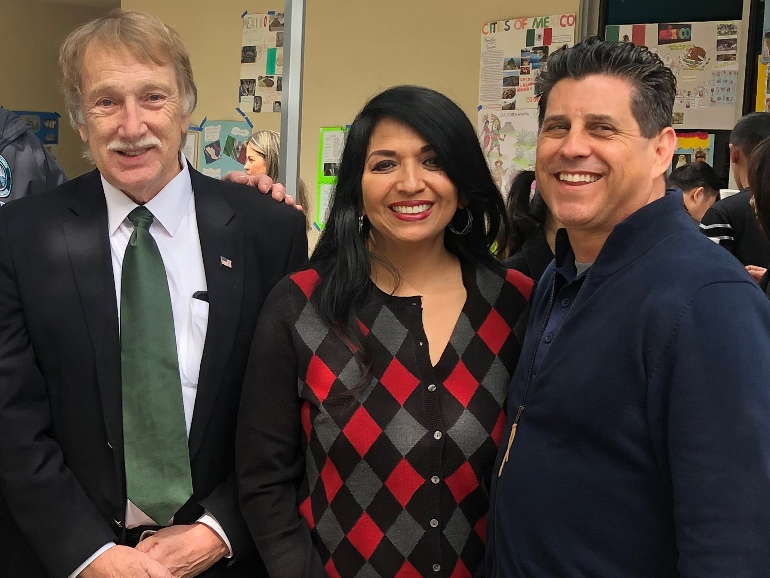 Board Member Mr. Rhinehart, Ms. Magallanes and Assistant Superintendent Dr. Hollister