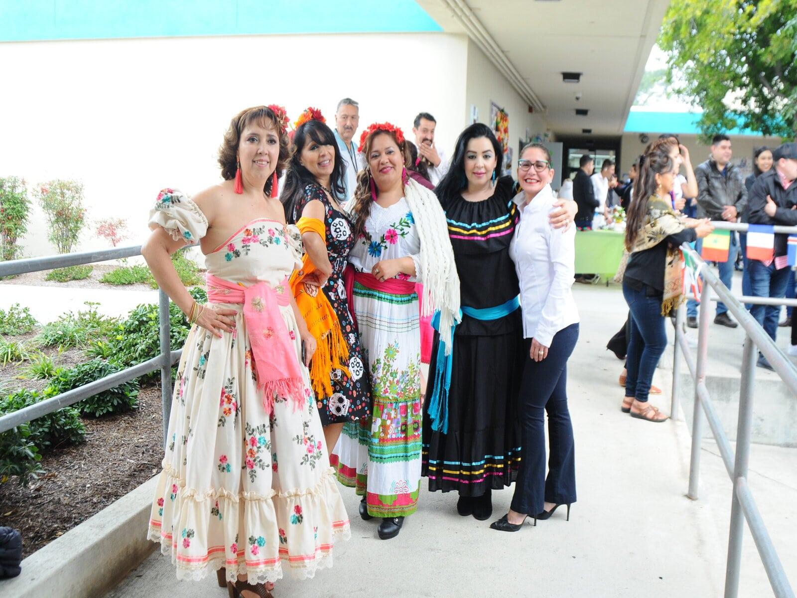 ESL students pose together