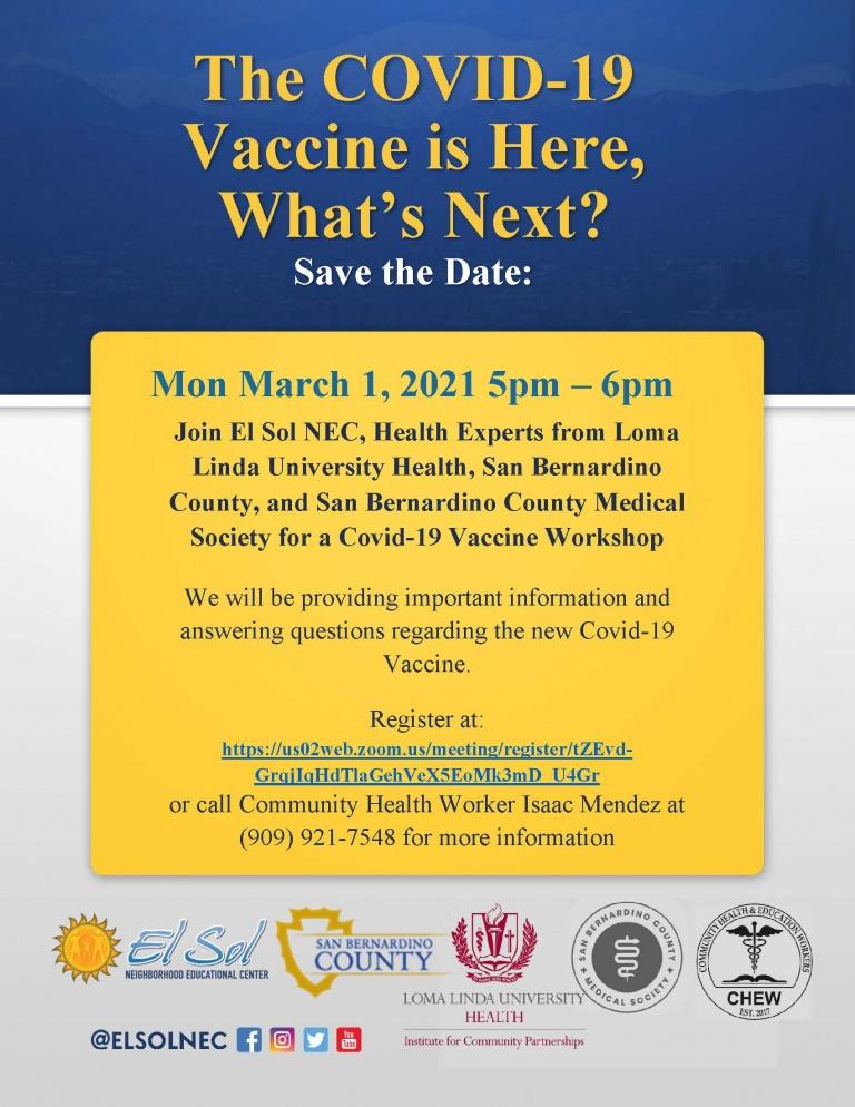 Vaccine-Webinar flyer in English