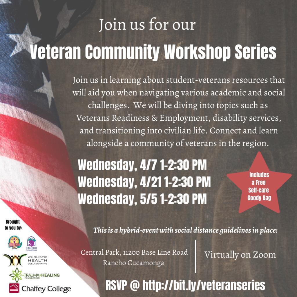 Flyer for Veteran Workshop