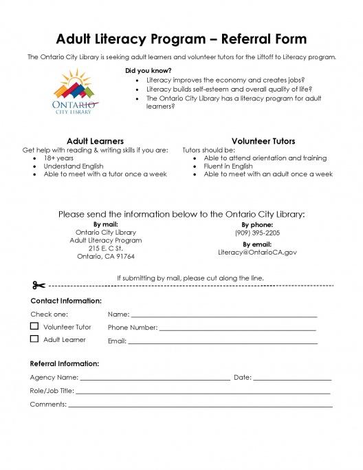 OCL Adult Literacy Referral Form 2021
